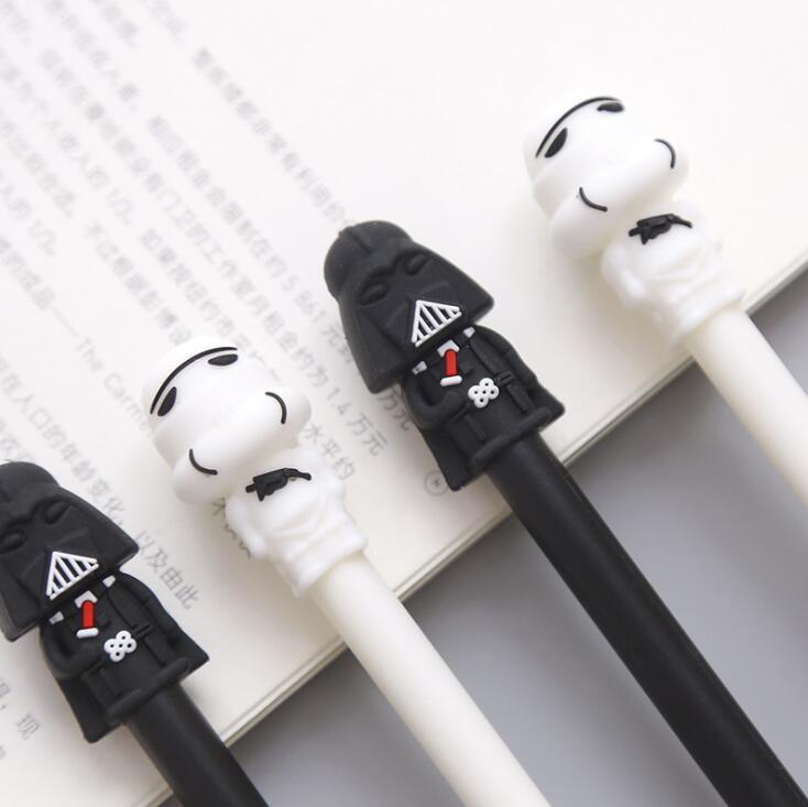 2 pièces/lot Star Wars noir blanc guerrier Gel stylo Signature stylo Escolar Papelaria école fournitures de bureau cadeau promotionnel