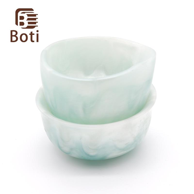 Boti brush-Ice Flowers Shaving Bowl Handmeade Beard Bowl Shaving Brush Tool Resin  Bowl Foaming Bowl