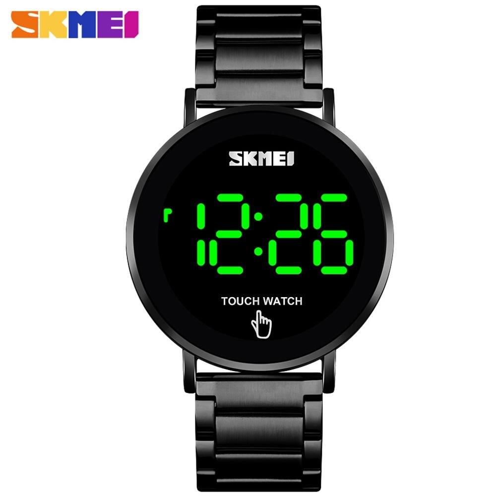 Reloj Digital SKMEI 1550 para hombre, pantalla táctil para hombre, pantalla LED de 3 bar, resistente al agua, correa de acero inoxidable, montre homme