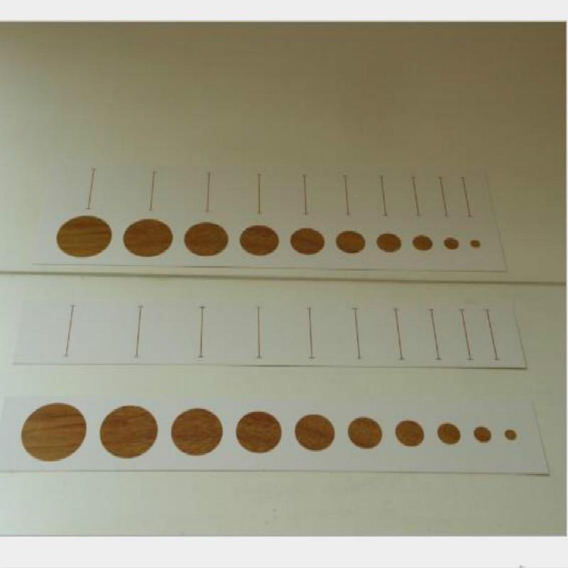 12 unids/lote de juguetes educativos para la primera infancia Montessori, tarjeta de papel de homólogo cilíndrico de Educación de filosofía