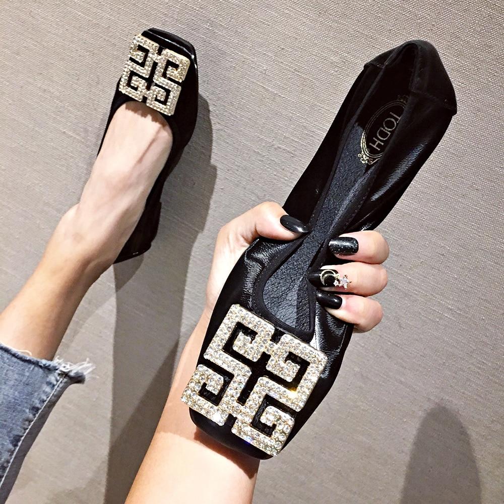 FamtiYaa-حذاء باليه مسطح بدون أربطة للنساء ، حذاء باليه مسطح ، بحري ، مسطح ، مطرز ، أحمر ، موضة الربيع والصيف ، 2020