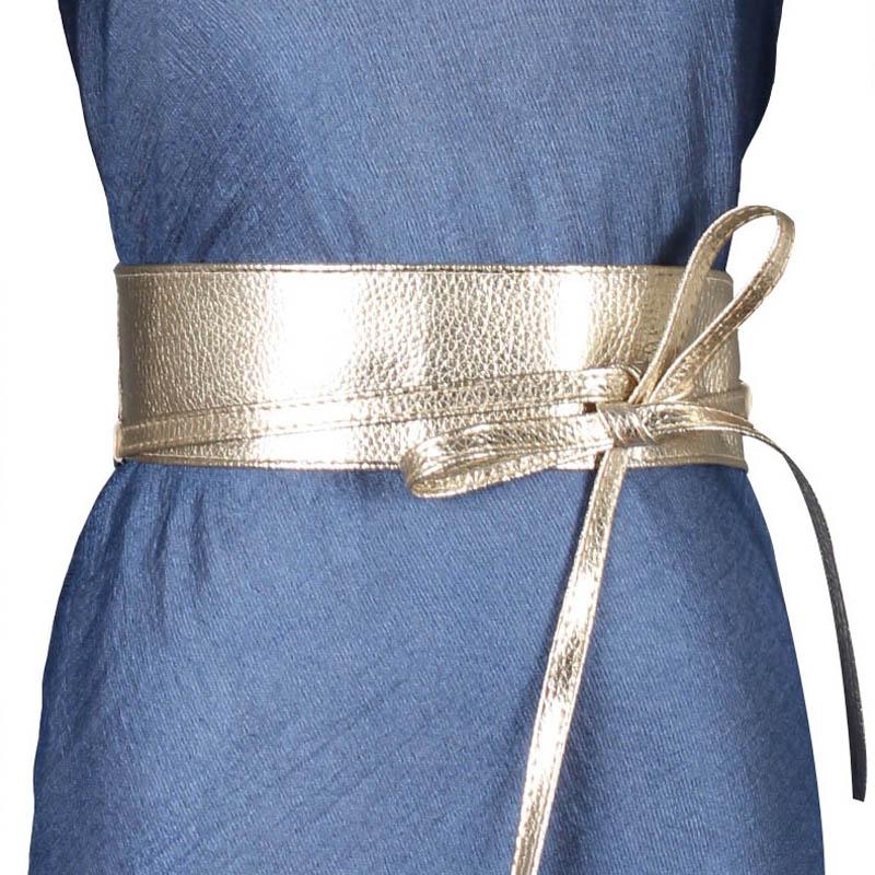 Sweet Women Dress Accessories Solid Color Bow Wide Belt Tie Wrap Around Obi Waist BandHOT surplice wrap tie waist stripe dress