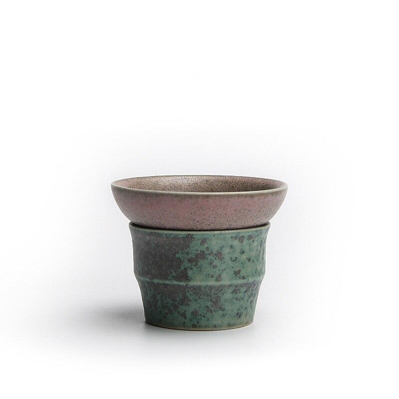 الأبيض الخزف الشاي إنفيرس teبينة أداة رسمت باليد الشاي تصفية السيراميك طقم شاي الاكسسوارات الصينية مصفاة شاي تسرب