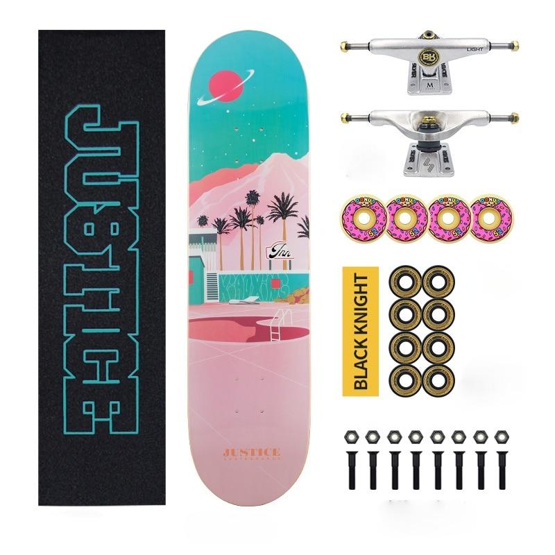 Anime Design Skateboard Hardware Wear Resistant Sandpaper Skateboard Deck Old School Planche De Skate Sports Equipment DK50SB