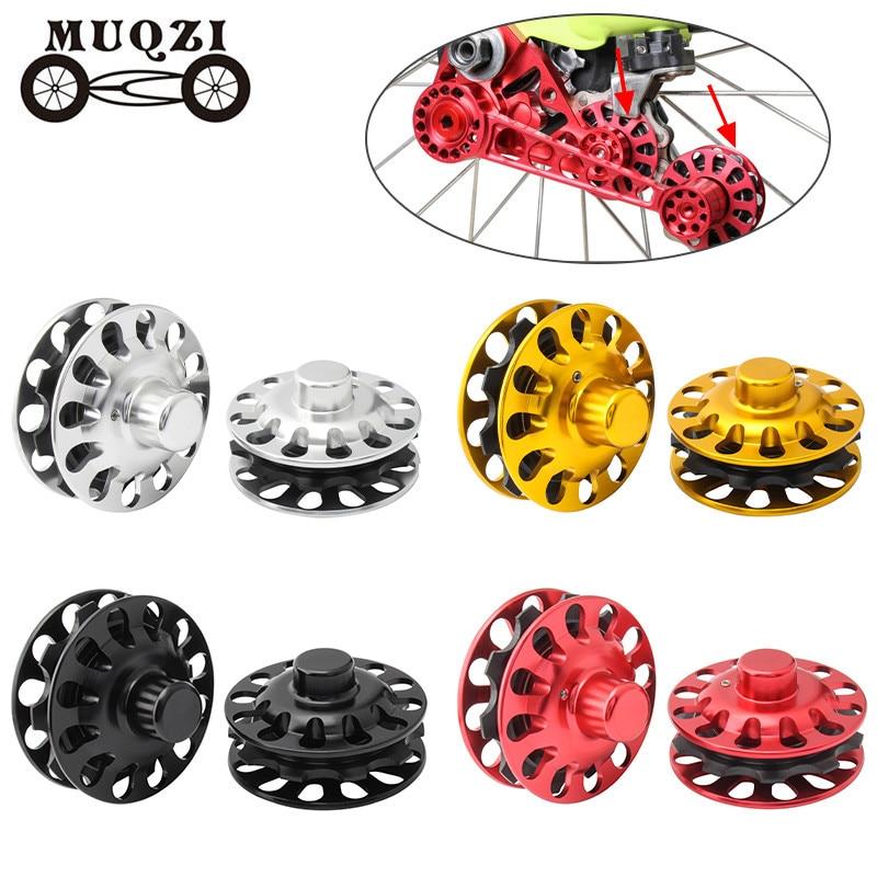 AliExpress - MUQZI 1 Pair Chain Tensioner Refit Tower Wheel For Brompton Folding Bike Rear Derailleur Single-Disc 2/3/6 Speed Chain Guide