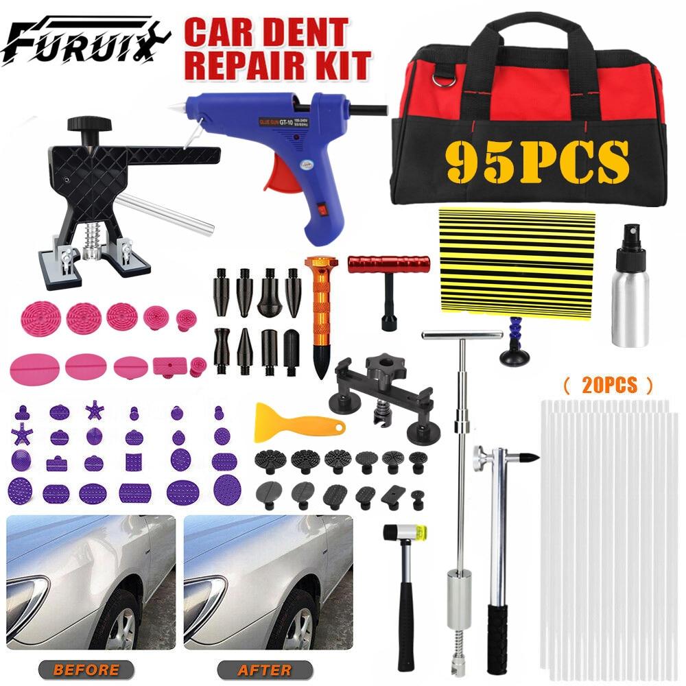 FURUIX 95x Car Dent Repair Tools  Paintless Dent Repair Hail Damage Remover Tool Car Body Repair Kit for auto
