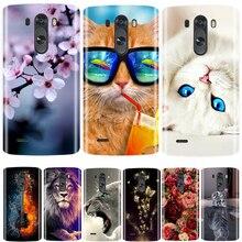 Telefon Fall Für LG G3 Weiche Silikon TPU Nette Katze Blume Gemalt Zurück Abdeckung Für LG G3 D850 D851 D855 fall