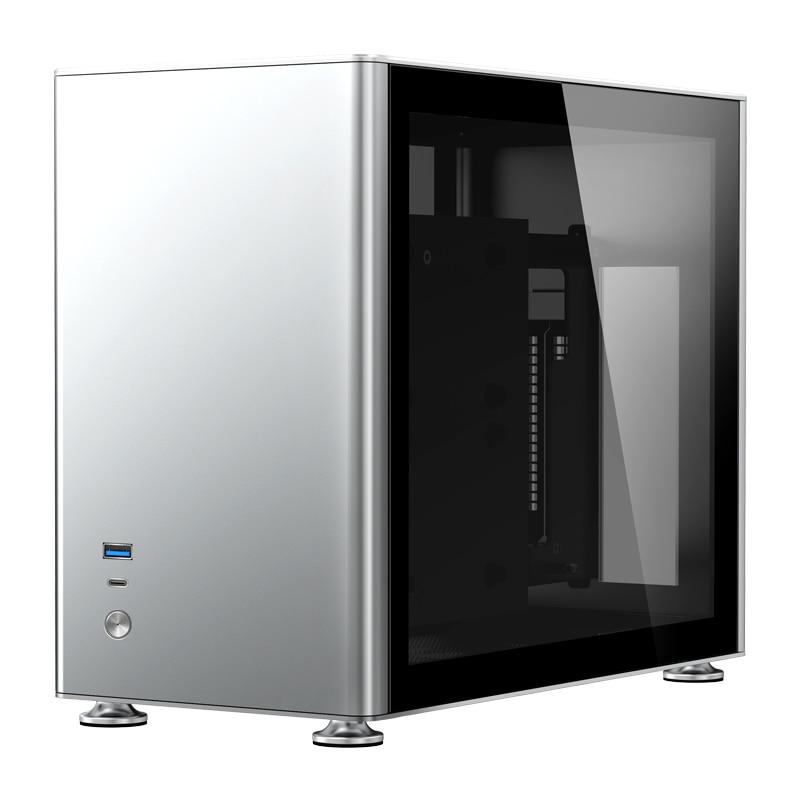جونسبو A4 الفضة A4S ITX الشاسيه يدعم 240 المياه المبردة SFX-L امدادات الطاقة الألومنيوم والمغنيسيوم كمبيوتر مكتبي