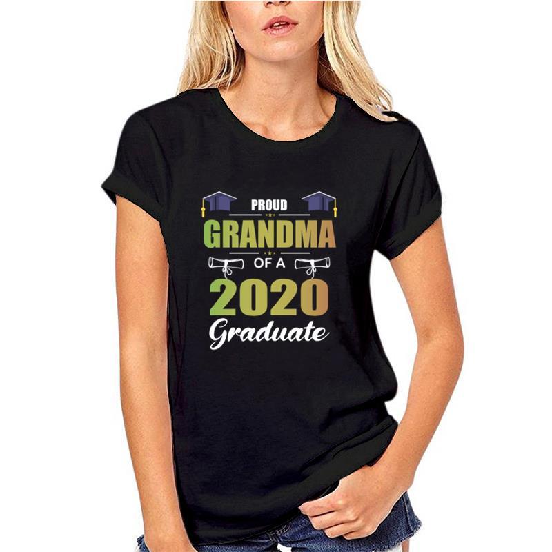 Cute Proud Grandma of 2020 Graduate trippie redd t shirt womens rock tshirt big size s~5xL hiphop top