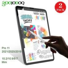 GOOJODOQ come scrivere su carta proteggi schermo per iPad Pro 11 2021 Air 4 3 iPad 10.2 iPad Mini 5 8 9 8a generazione come carta