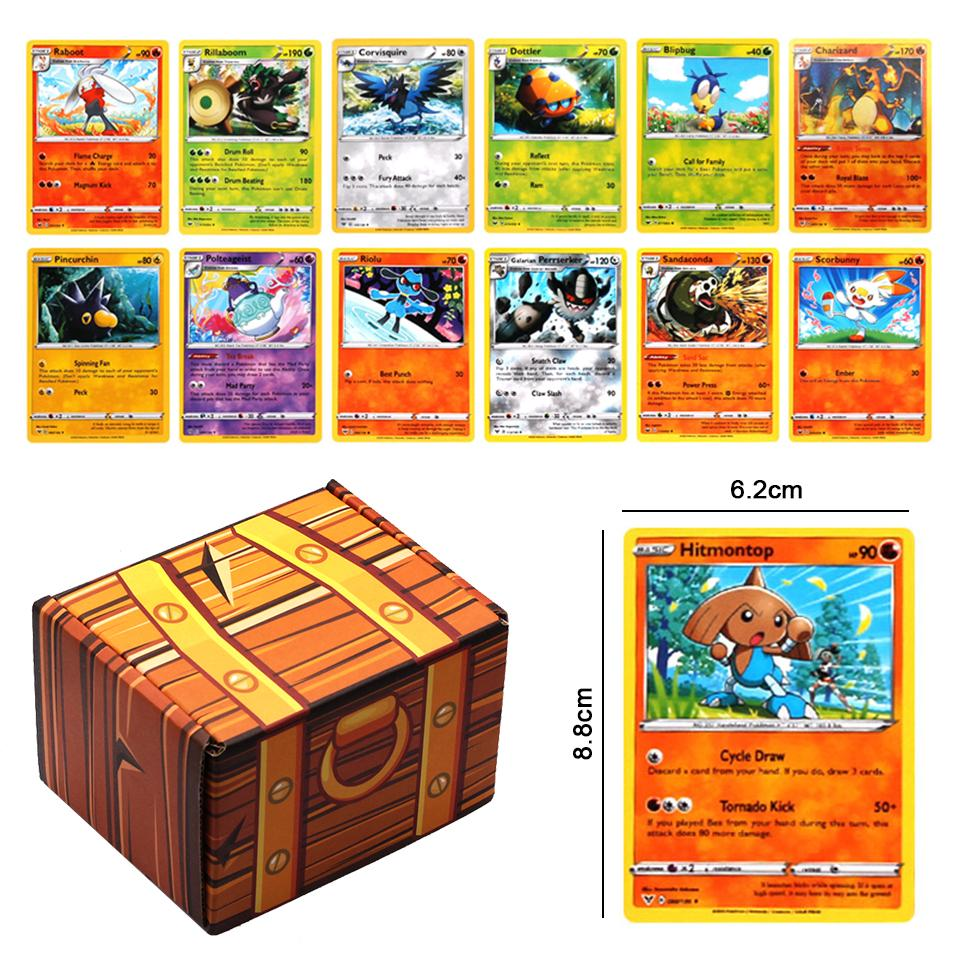 New 120pcs/set Pokemon Cards With Box Battle Toys Hobbies Hobby Collectibles Game Collection Anime P