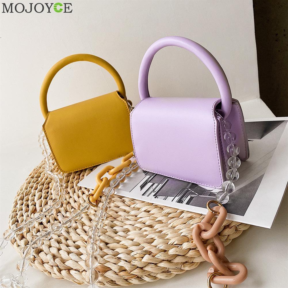 Mini bolso cruzado de cuero PU para mujer 2020, bolsos de hombro de cadena, diseño de viaje femenino, perlas bolsa cruzada