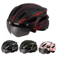unisex adult ultralight bicycle cycling helmet with goggles for outdoor sports mountain road bike helmet sport safe hat