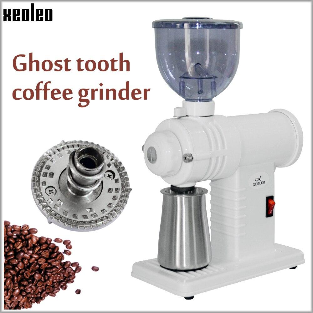 Xeoleo مطحنة بن كهربائية مطحنة القهوة المنزلية آلة طحن حبوب البن ماكينة الطحن 220 فولت 1 ~ 8 التروس قابل للتعديل