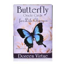 Nuevas tarjetas de mariposa oráculo para la vida cambia A 44-cubierta de tarjeta y libro de guía libro de adivinación para mujeres chicas cartas juego de mesa