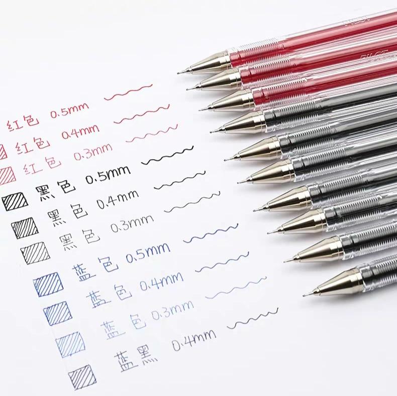 5pcs PILOT BLLH-20C5/C4/C3 Simple Office Gel Pen 0.3mm 0.4mm 0.5mm Written Width HI-TEC-C Needel Type Penpoint Smooth Writing