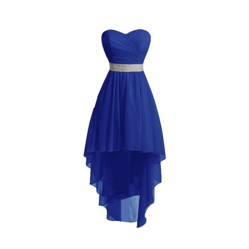 Popodion-فستان إشبينة العروس بدون حمالات ، فستان مأدبة ، فستان زفاف شيفون مع أربطة ، WAS10186