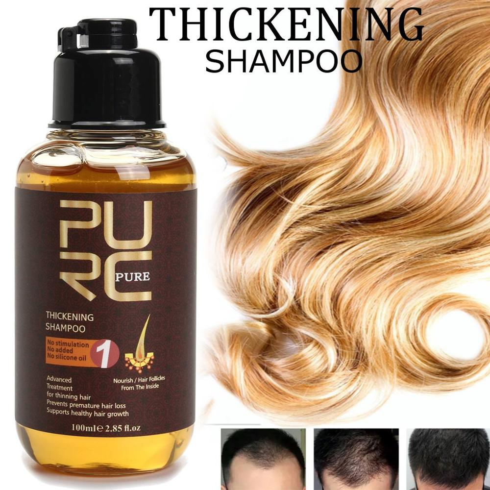 Очищающий шампунь против выпадения волос, 100 мл, уплотненный шампунь, эссенция для роста волос, масло для лечения выпадения волос, средство д...