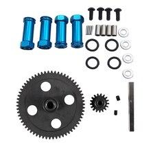 Adaptateurs hexagonaux de roue en aluminium de 12mm longue Extension de 29mm pour 1/12 Wltoys 12428 et engrenage principal à Diff droite 62T réducteur
