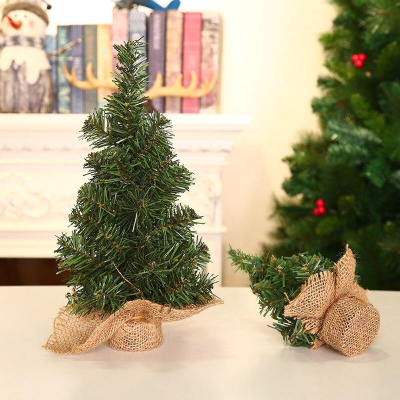 2020 Artificial Tabletop Mini Xmas Tree Decorations Christmas Tree 20cm New Year Table Decoration Miniature Tree 1PCS