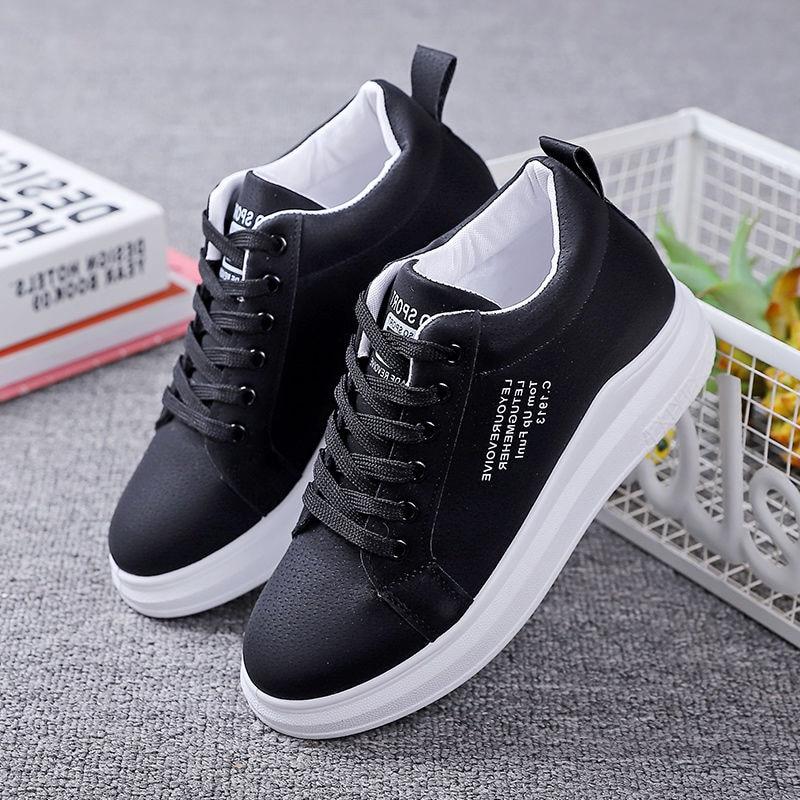 Осенние женские кроссовки на массивной подошве, Корейская Студенческая Повседневная Спортивная обувь на толстой подошве, Zapatillas Mujer, новинка 2021