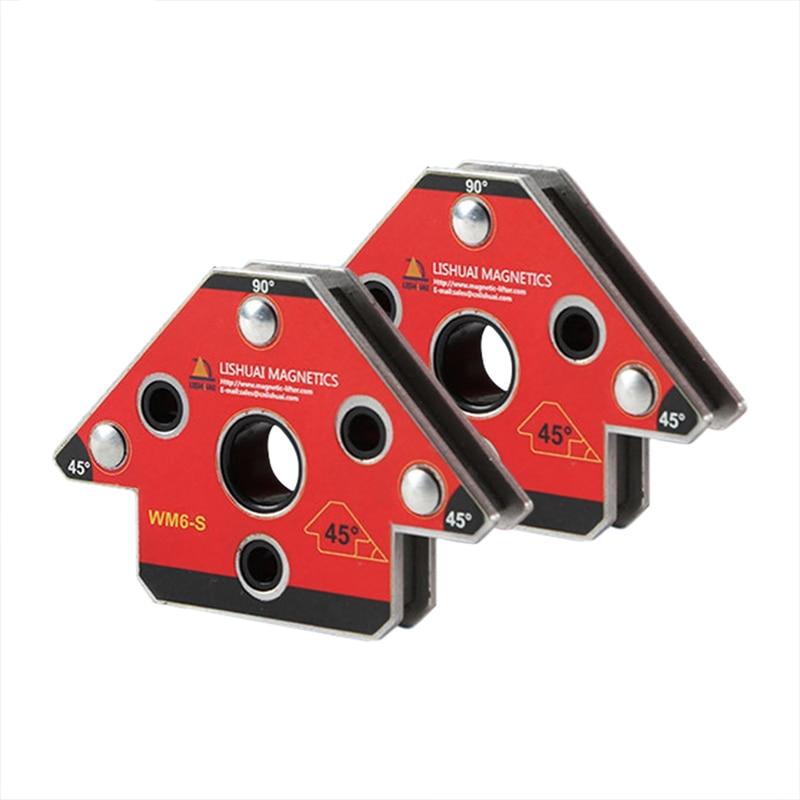 2Pcs/Set Wm6-S Magnetic Welding Clamp Magnet Welding Holder For Three-Dimensional Welding