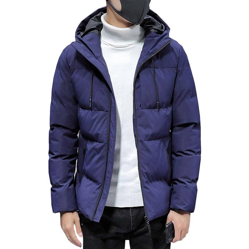 Мужские зимние куртки 2020, модные мужские хлопковые толстые теплые парки, мужская повседневная Уличная ветровка с капюшоном, пальто