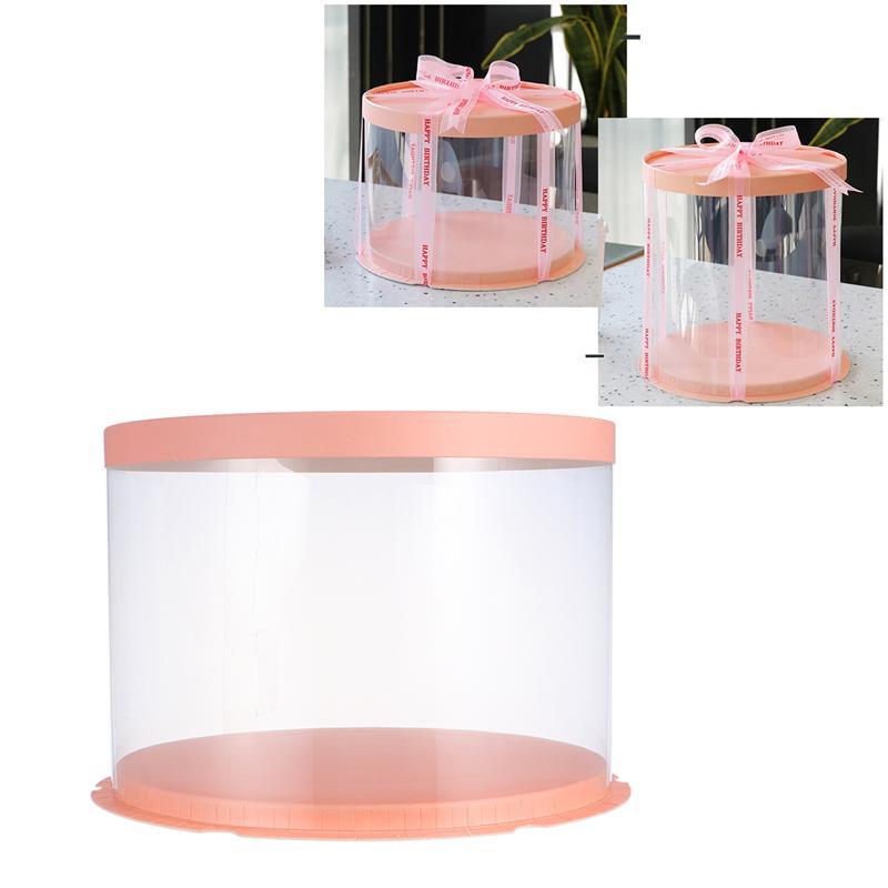 Caja De almacenamiento transparente para tartas y postres, Organizador a prueba De...