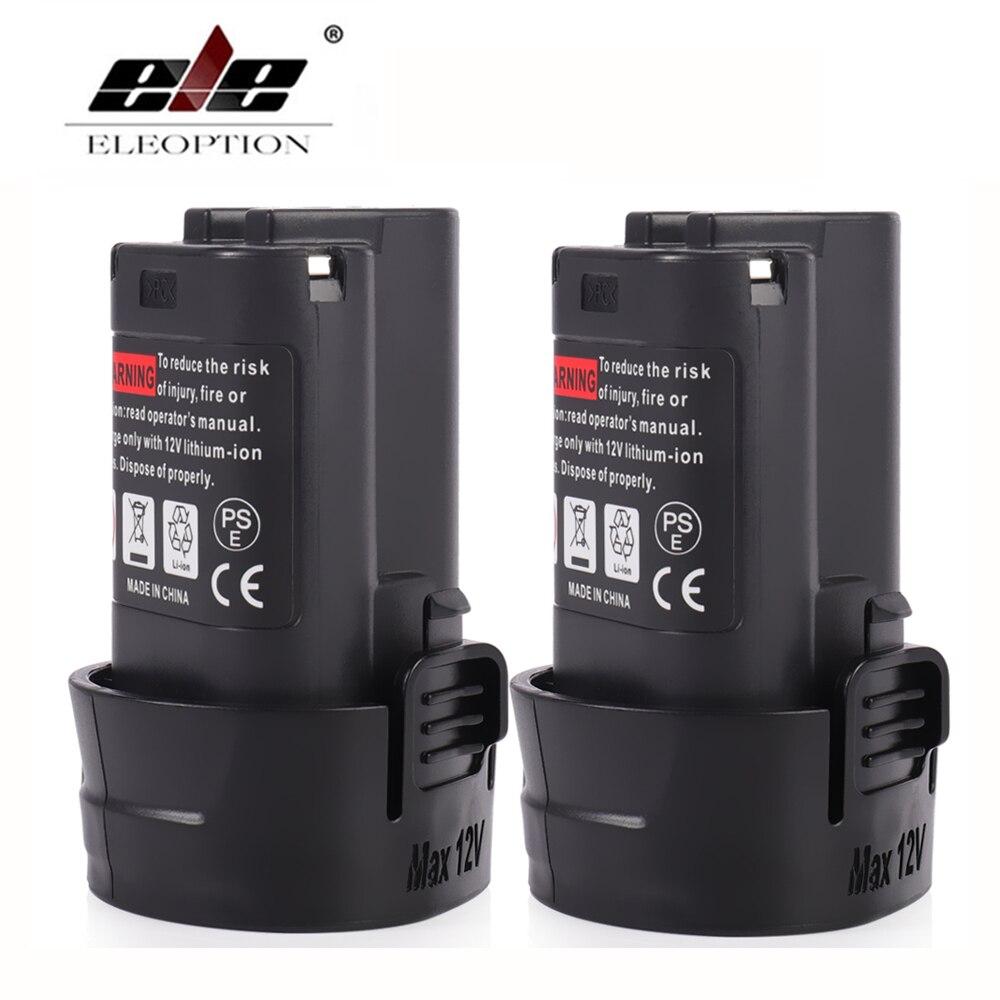 ELEOPTION 2PCS 10.8V 2000mAh Lithium Battery for Makita BL1013 TD090D TD090DW LCT203W LCT204 194550-6 &1.5ah