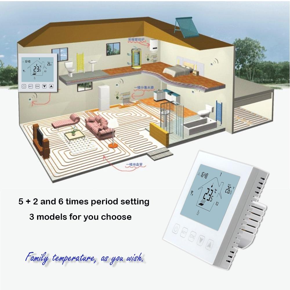 3A16A ذكي للبرمجة تويا واي فاي التدفئة ترموستات داخلي ، للمياه/التدفئة الكهربائية ، المرجل وتدفئة المياه الربط