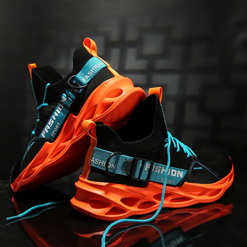 Men Lightweight Blade Running Shoes Shockproof Breathable Male Sneakers Walking Mens Gym Shoes Athletic Shoes Tenis Masculino