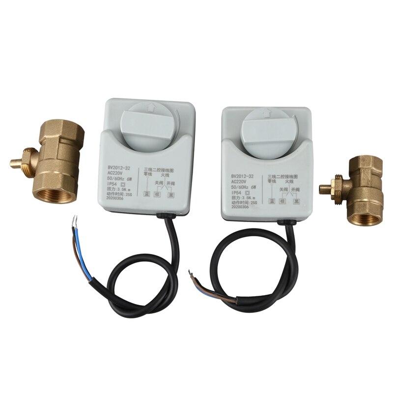 مشغل صمام كروي كهربائي مع مفتاح يدوي ، Dn15 و Dn20 ، 2 قطعة Ac220V ، طريقتان ، 3 أسلاك