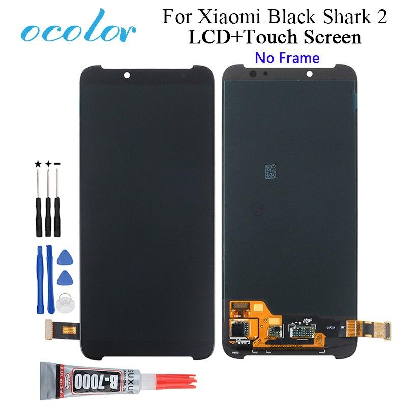 Ocolor pour Xiaomi noir requin 2 écran LCD et écran tactile assemblage remplacement avec outils + adhésif pour Xiaomi noir requin 2