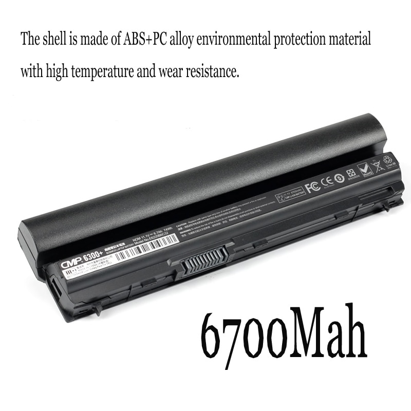 1PC New Laptop Battery Internal For Dell E6230 E6220 E6330 E6430S E6320 E6120