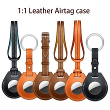 1:1 Leather Airtag Case For Apple Airtags Protective cover For Airtag Locator Tracker Anti-lost Devi