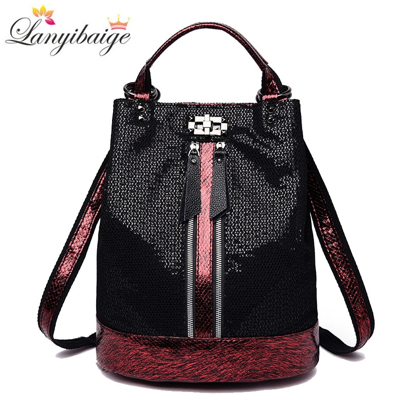 2021 Vintage backpack women high quality leather backpacks multifunction ladies shoulder bag high capacity school bag for girls