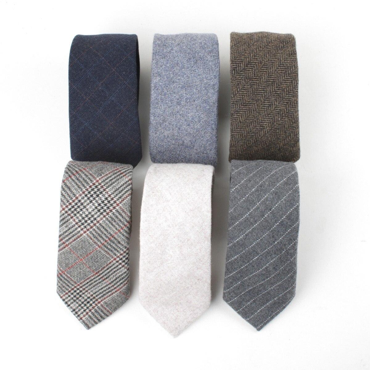 Linbaiway gravata de lã para festa casual masculino jacquard lã gravatas camisa gravata negócios gravatas logotipo personalizado