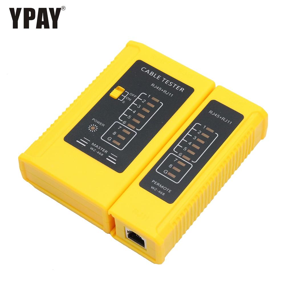 Ypay Netwerk Rj45 Tester Tool Draad RJ11 Rj12 8 P 6 P Lijn Telefoon 8p8c 6p4c Rg45 Ethernet Kabel Belangrijkste remote Seriële Test Rj Rg 45