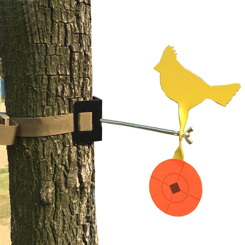 Metal Diameter In 35mm Animal Shooting Target Slingshot Hunting Catapult Practice Tree Pole Mount Easy Belt Installation