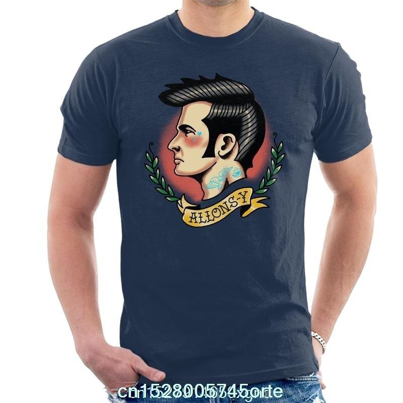 Impreso divertido 2020 camiseta 10th médico que tatuaje vamos Allons Y hombres camiseta mujer camiseta
