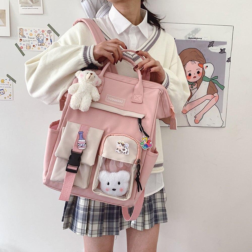 Японский Детский рюкзак, школьные ранцы для девочек-подростков, Детские вместительные сумки на ремне,рюкзак женский,рюкзак школьный,портфе...