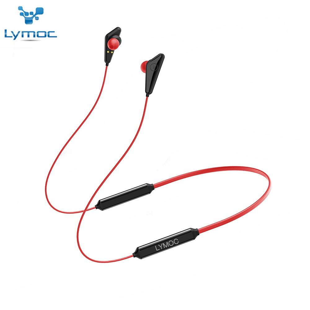 LYMOC Q5 Plus Neckband Bluetooth Headphones 68Hours Working Time V5.0 Wireless Earphones Heavy Bass Stereo HD Mic Handsfree