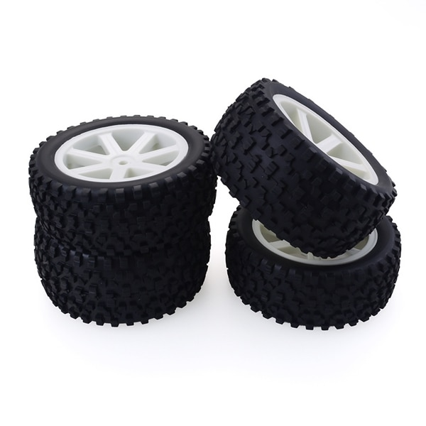 4Pcs 1/10 RC Truck Rubber Tire Wheel Tyre Alloy Wheel Rims Replacement Tire for ZD Racing Buggy Crawler Car RC Model Parts enlarge
