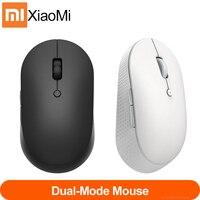 Новейшая беспроводная Двухрежимная мышь Xiaomi Mi, бесшумная эргономичная Bluetooth USB Боковая кнопка, портативная беспроводная мини-мышь для ноутб...