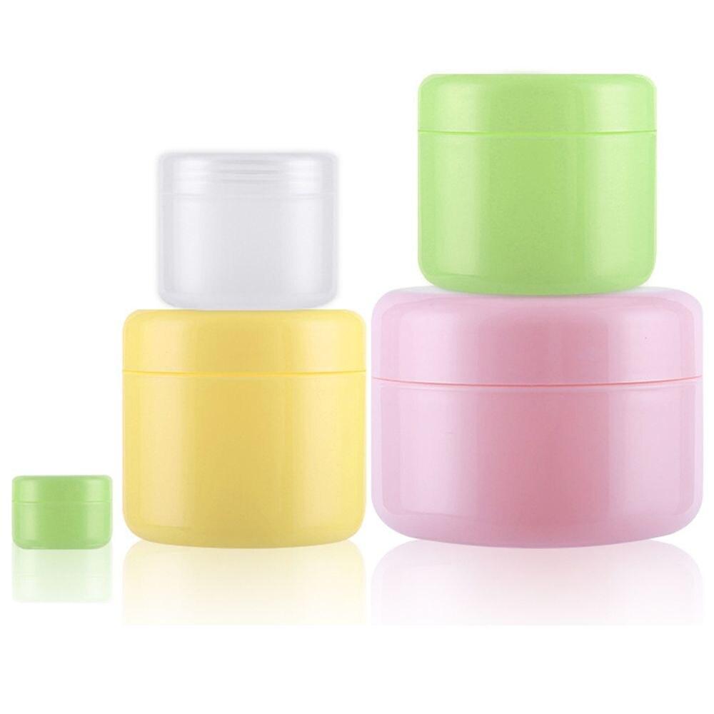 O frasco vazio da composição recarregáveis engarrafa o creme plástico da cara do potenciômetro/loção/cosméticos recipiente garrafa do curso perfumes masculinos parfum