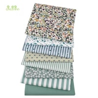printed twill cotton fabricpea green color seriespatchwork clothes for diy sewing quilting baby childs bedclothes material