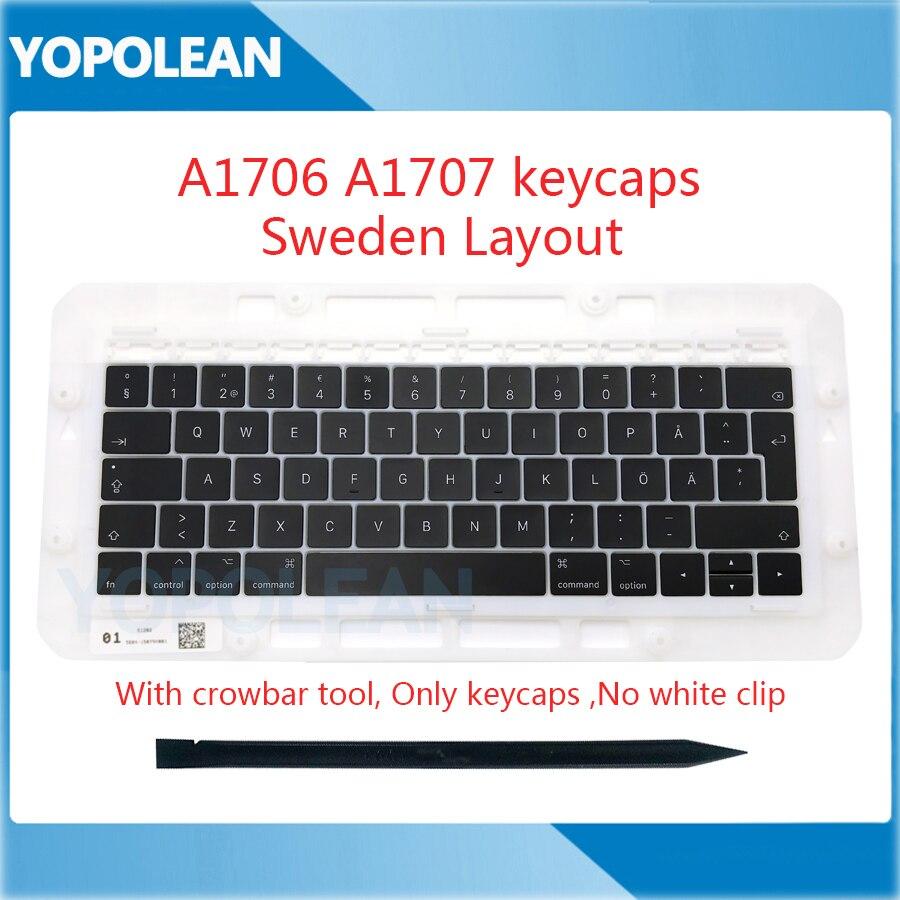 "Original Sweden Swedish SE Keyboard keys Key cap keycaps For Macbook Pro Retina 13"" A1706 15"" A1707  Late 2016 Mid 2017"