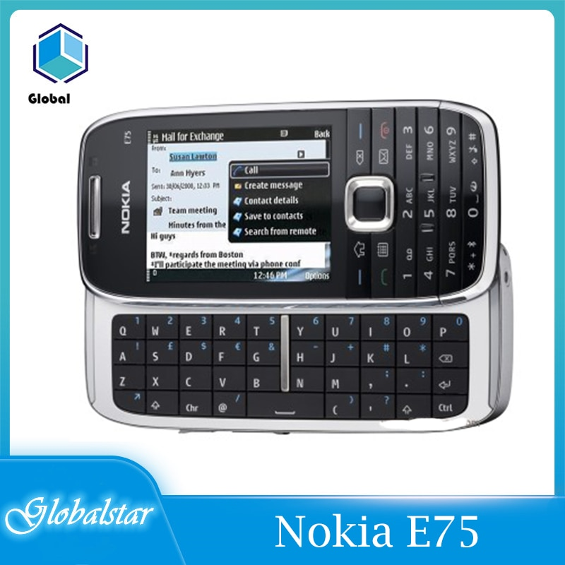 Nokia E75 Refurbished Original Unlocked Nokia E75 Slide 2.4' inch GSM 3G Symbian mobile phone with A