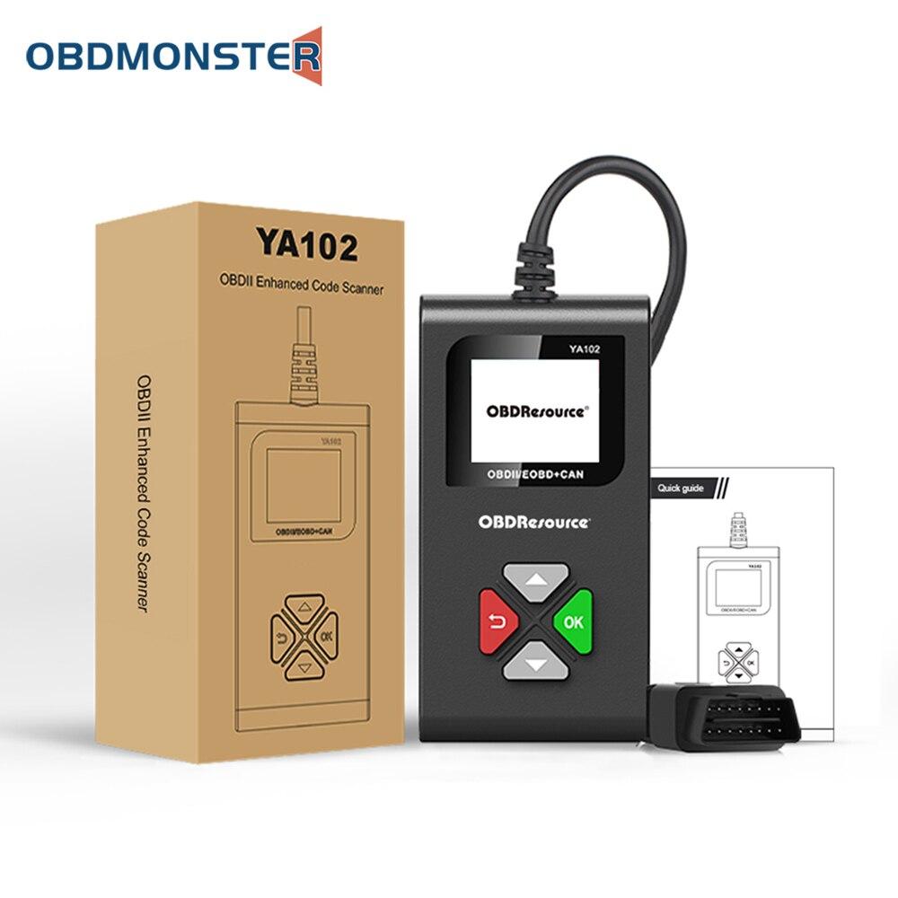 Диагностический сканер YA102 OBD2, устройство для диагностики автомобильных двигателей