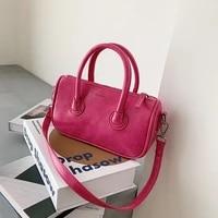 solid color pu leather ladies small single shoulder underarm bag fashion women purse handbags retro messenger bag sac main femme